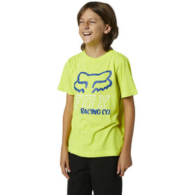 Fox Hightail SS Tee Youth, fluorescent yellow